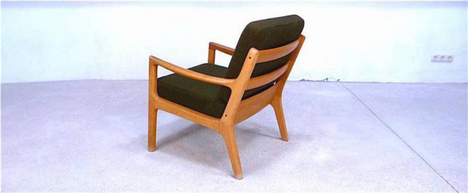 d nischer senator sessel und sofa aus eichenholz von ole wanscher f r cado 1960er 2er set bei. Black Bedroom Furniture Sets. Home Design Ideas