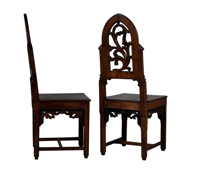 Antiker stuhl aus eiche im gotischen stil bei pamono kaufen for Stuhl eiche