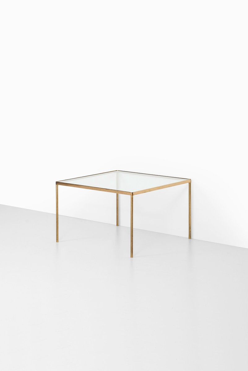 Mid Century Brass Glass Coffee Table 1950s For Sale At Pamono