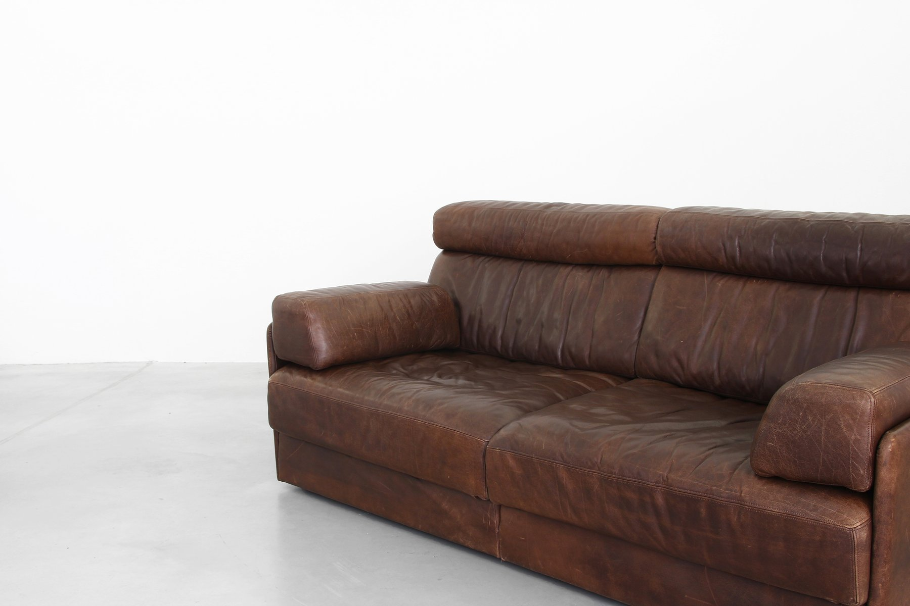 Vintage Model Ds 76 Brown Leather Sofa From De Sede For Sale At Pamono