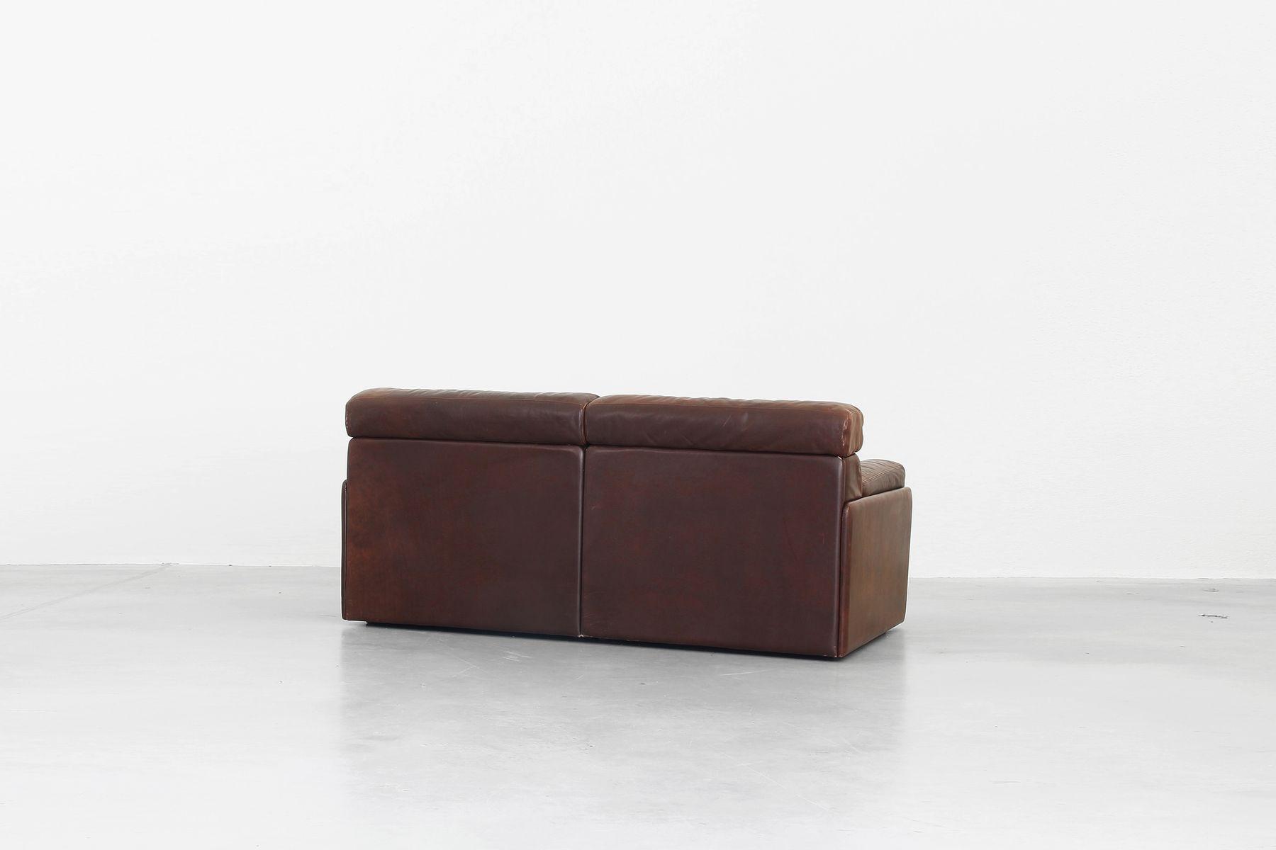 vintage modell ds 76 ledersofa in braun von de sede bei. Black Bedroom Furniture Sets. Home Design Ideas