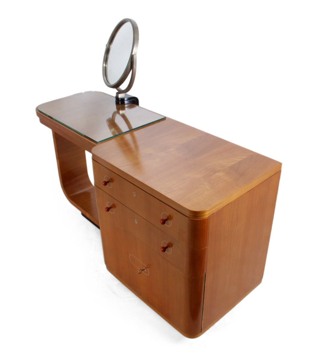 Art deco walnut dressing table 1930s for sale at pamono for Miroir art deco 1930