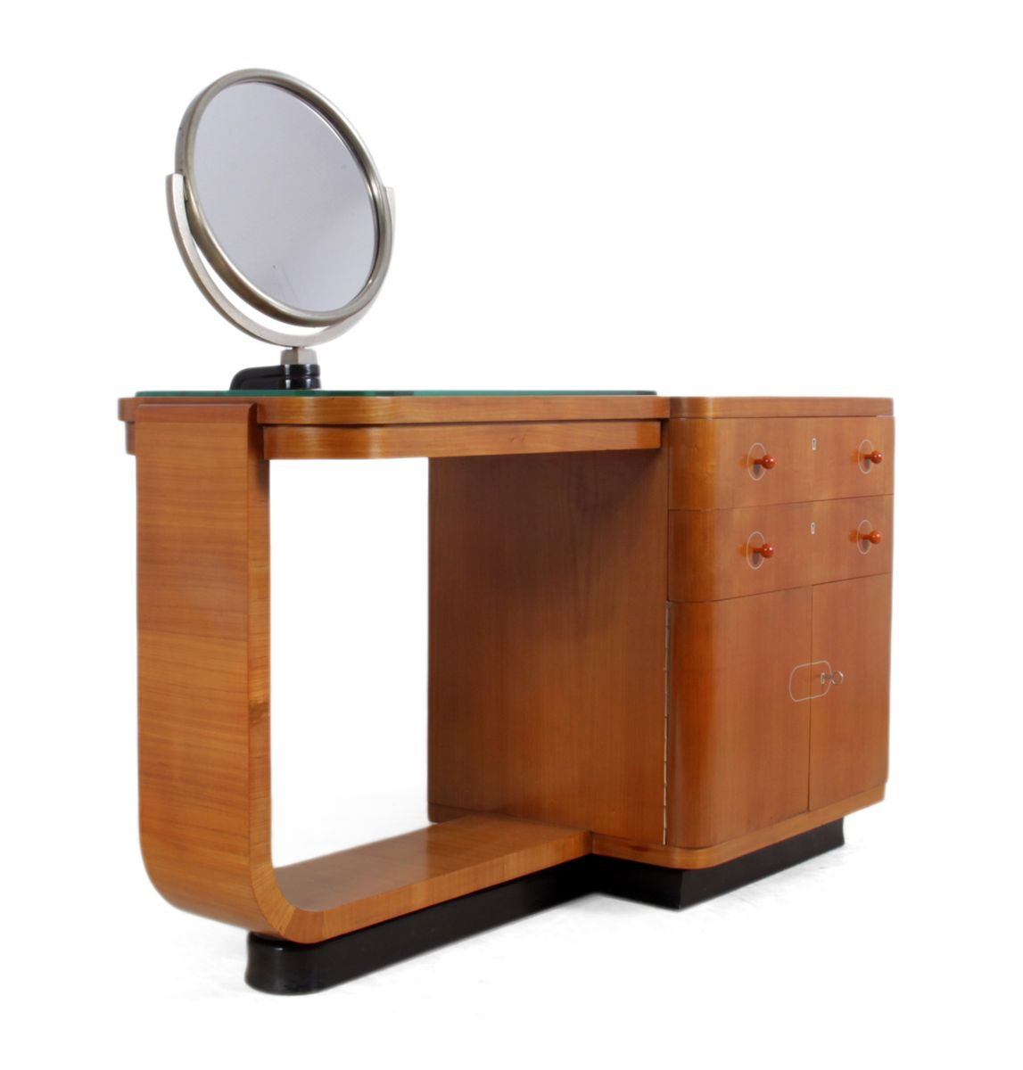 Art deco walnut dressing table 1930s for sale at pamono for Meuble art deco 1930