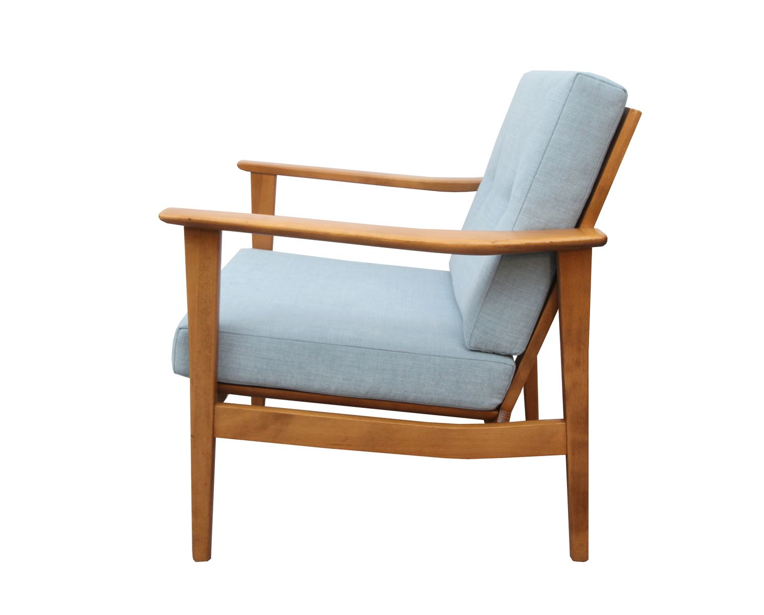 German light blue fabric armchair 1960s for sale at pamono for Light blue armchair