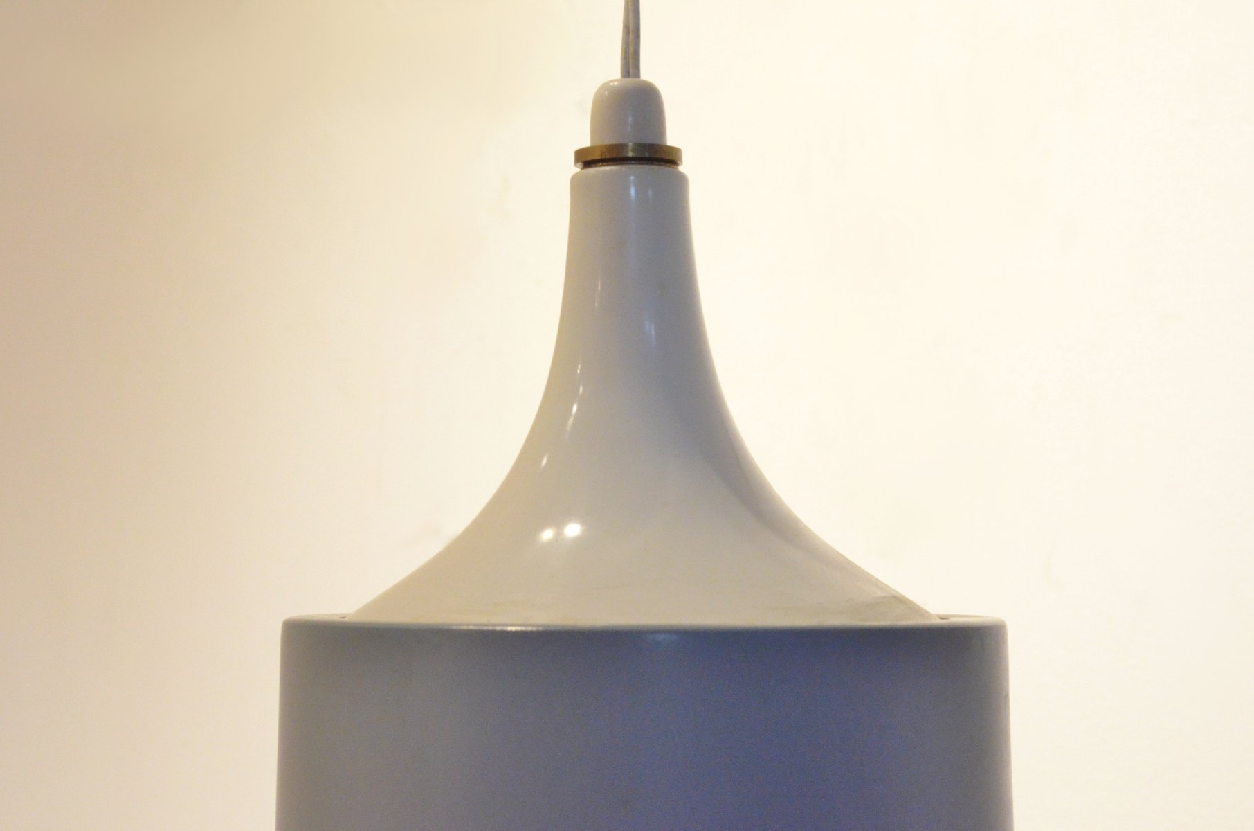 Mid Century Danish Brass & Grey Metal Wall Arm Lamp from Lyfa 1950s for sale at Pamono