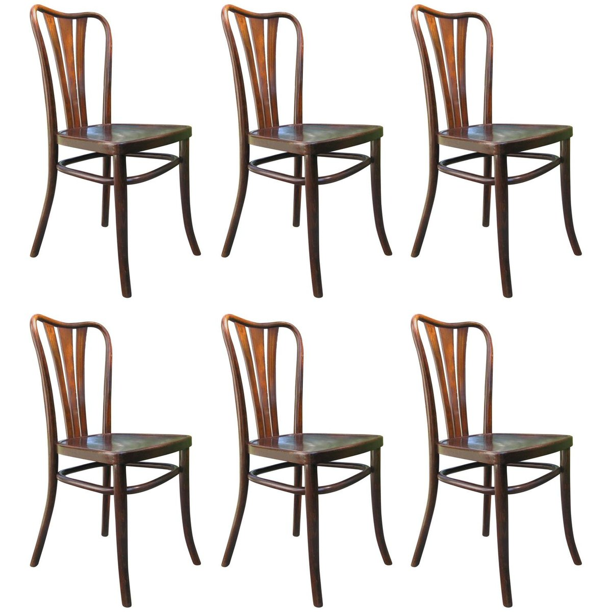 Vintage Dining Chairs From Thonet, 1930s, Set Of 6 For Sale At Pamono