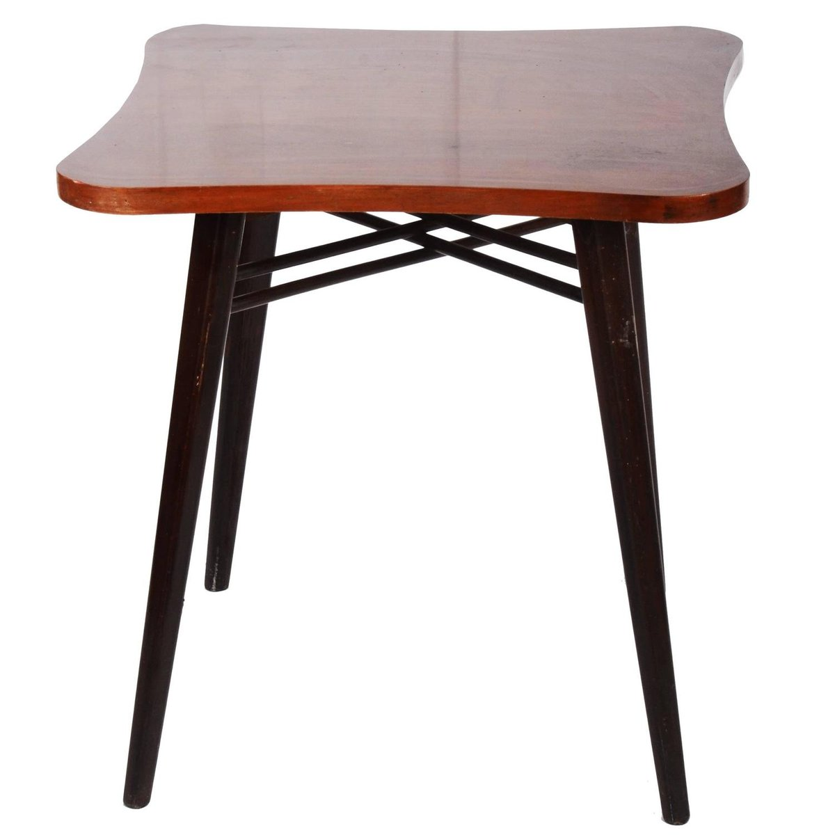 Walnut and lacquer side table 1970s for sale at pamono for Walnut side table