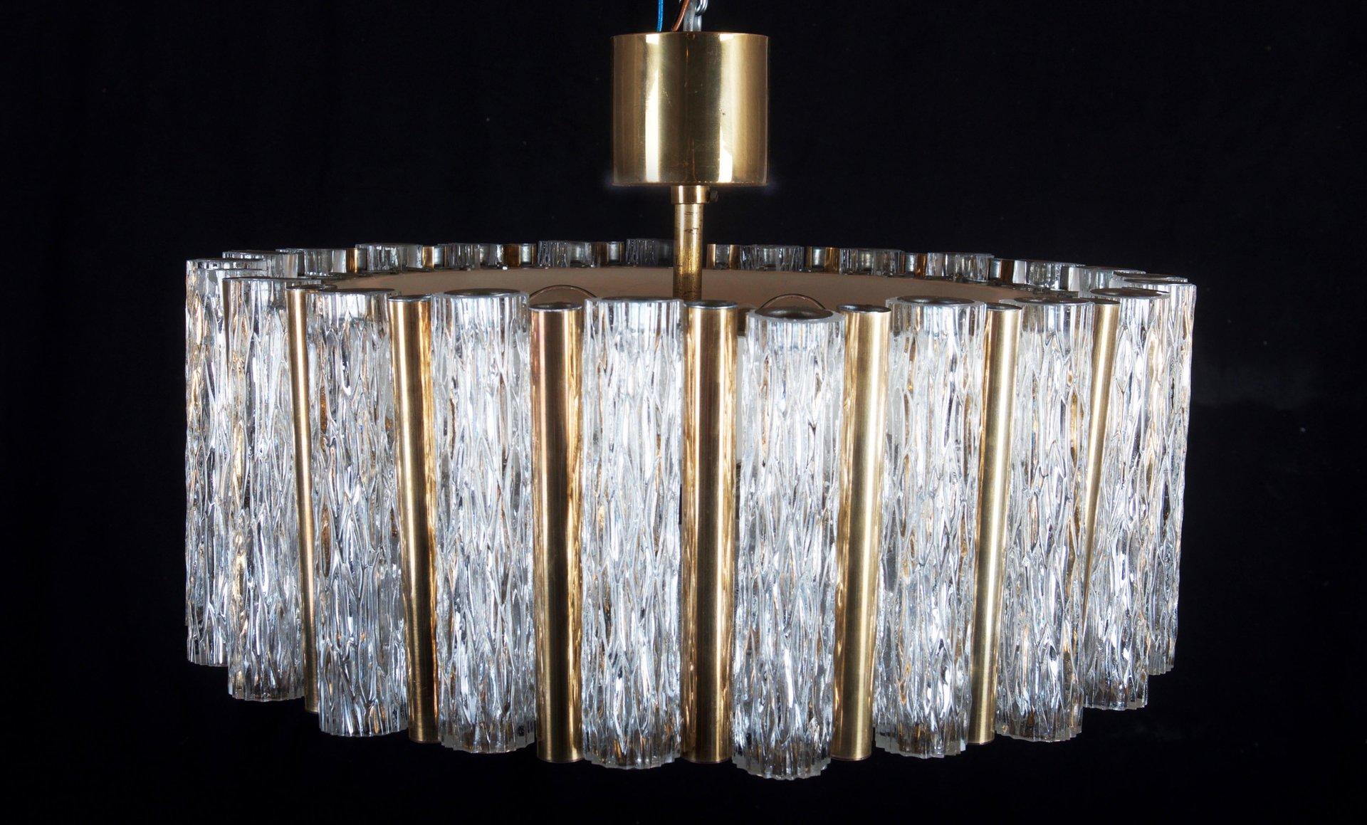 mid century glas kronleuchter von kaiser leuchten bei. Black Bedroom Furniture Sets. Home Design Ideas