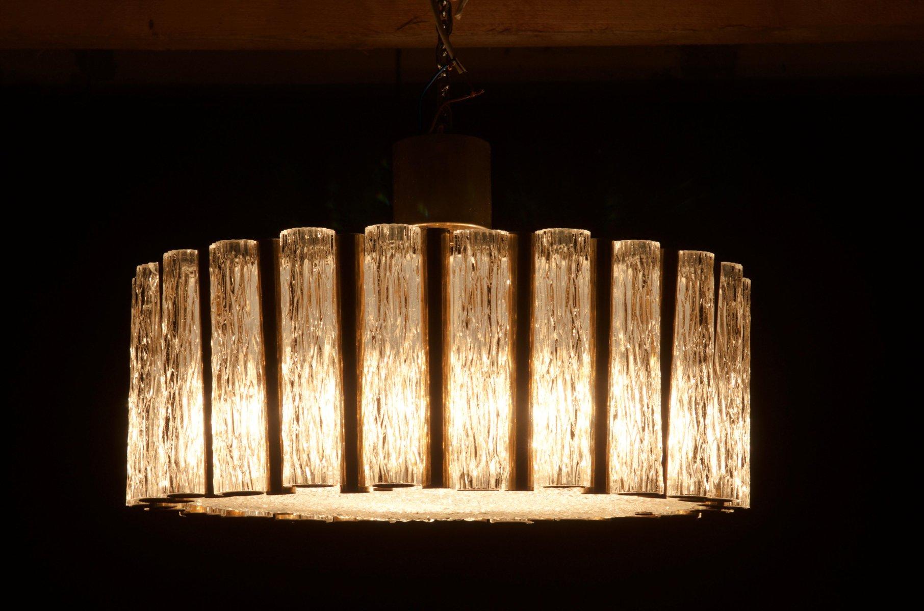 mid century glas kronleuchter von kaiser leuchten bei pamono kaufen. Black Bedroom Furniture Sets. Home Design Ideas