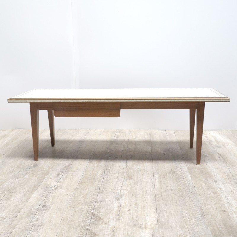 deutscher vintage mosaik tisch mit schublade 1950er bei pamono kaufen. Black Bedroom Furniture Sets. Home Design Ideas