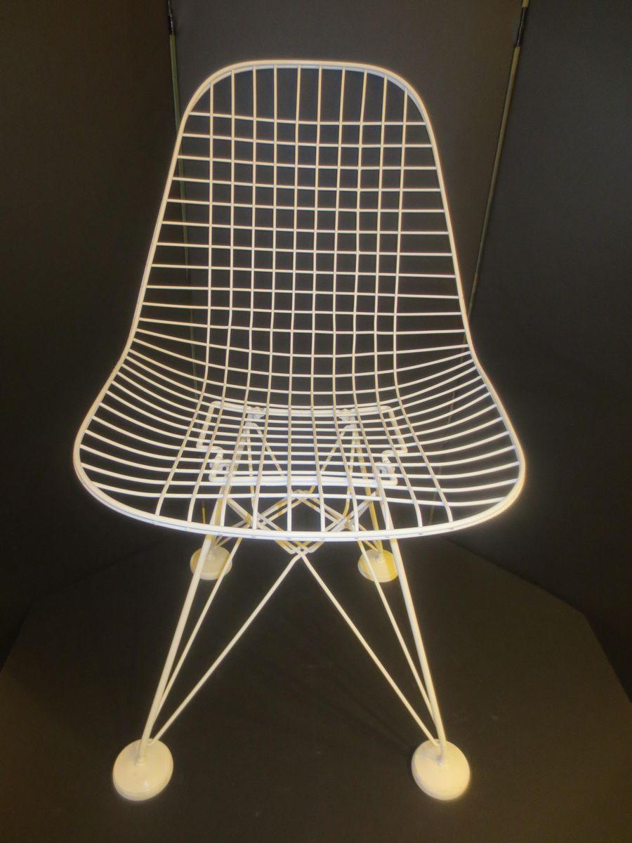 chaise en fil de fer dkr par charles & ray eames pour herman ... - Chaise En Fil De Fer