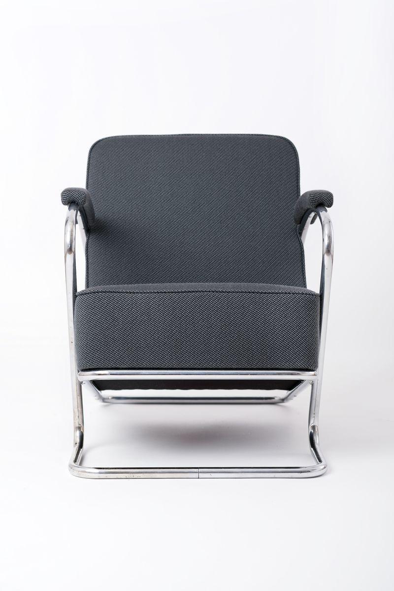 fauteuils en acier tubulaire r publique tch que 1930s On acier tubulaire