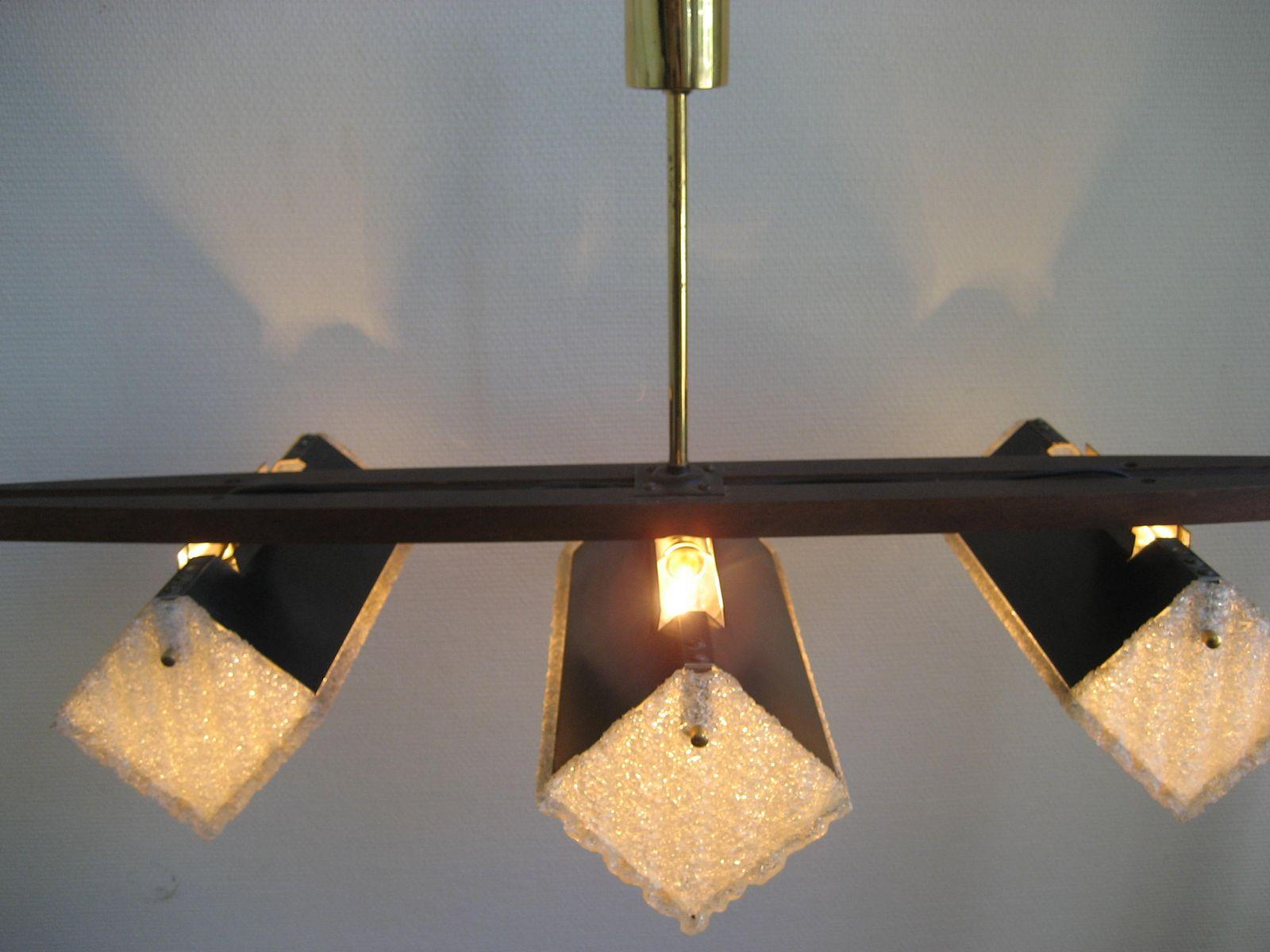 franz sische vintage lampe mit drei plastik lampenschirmen 1960er bei pamono kaufen. Black Bedroom Furniture Sets. Home Design Ideas