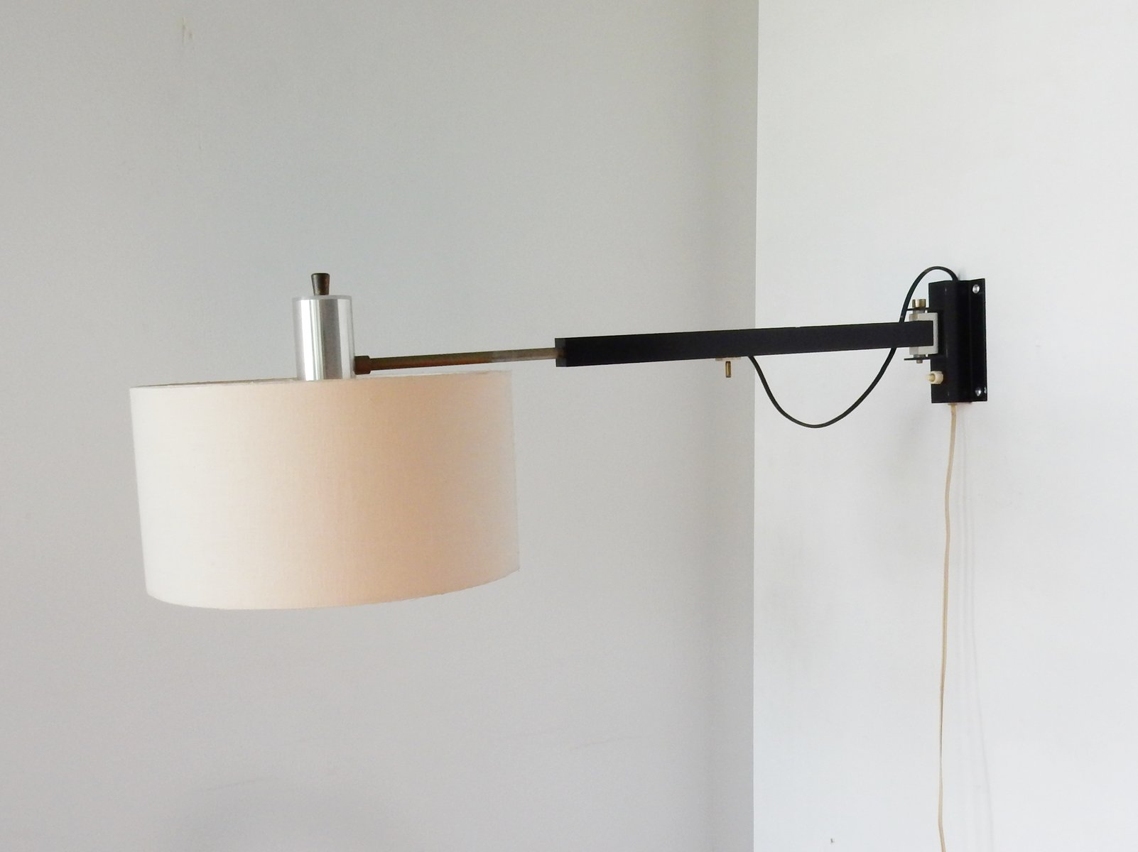 Wall Mounted Extendable Lamp : Vintage Extendable Swiveling Wall Lamp, 1960s for sale at Pamono