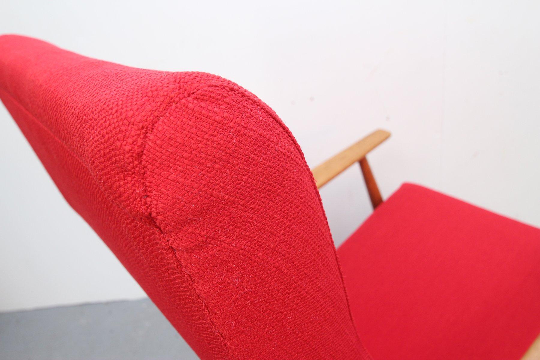 Roter deutscher schaukelstuhl bei pamono kaufen for Schaukelstuhl test