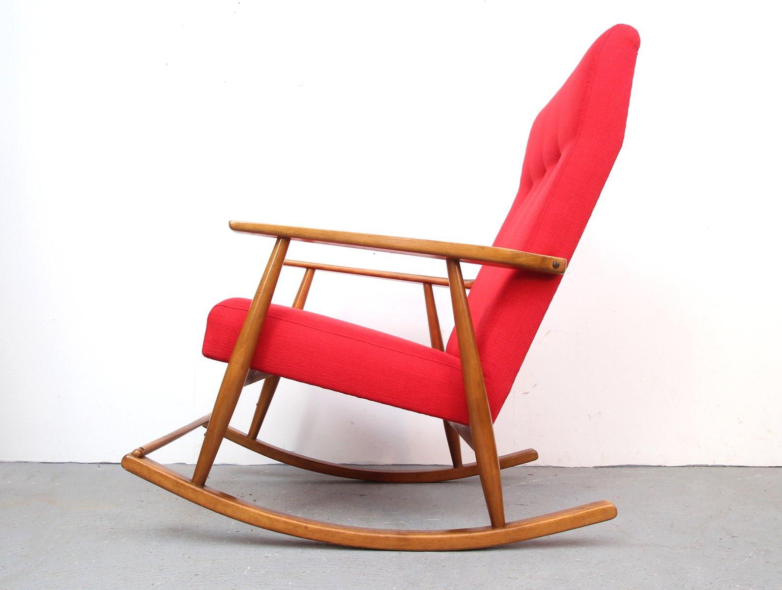 roter deutscher schaukelstuhl bei pamono kaufen