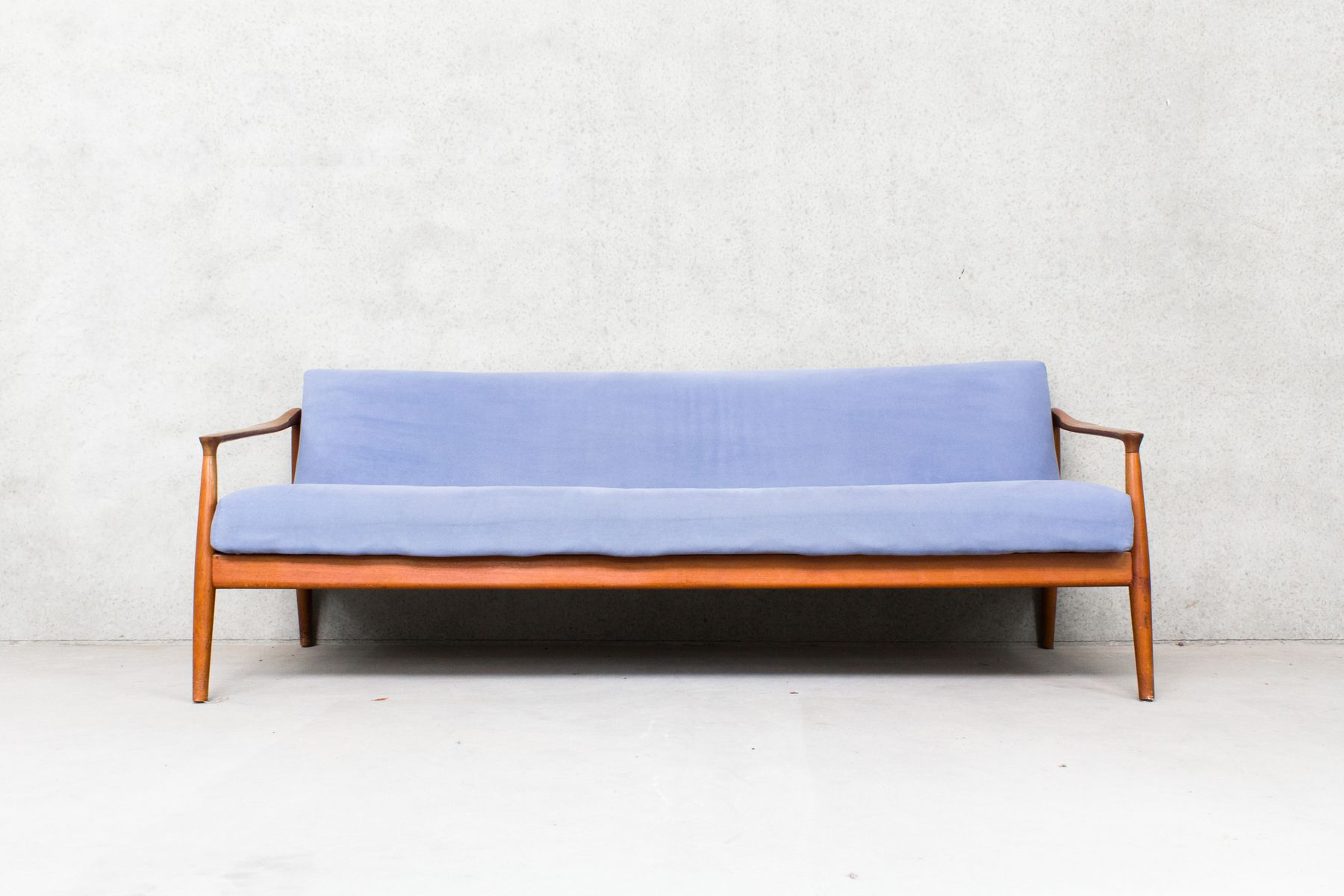 Mid Century Danish Three Seater Sofa Bed For Sale At Pamono