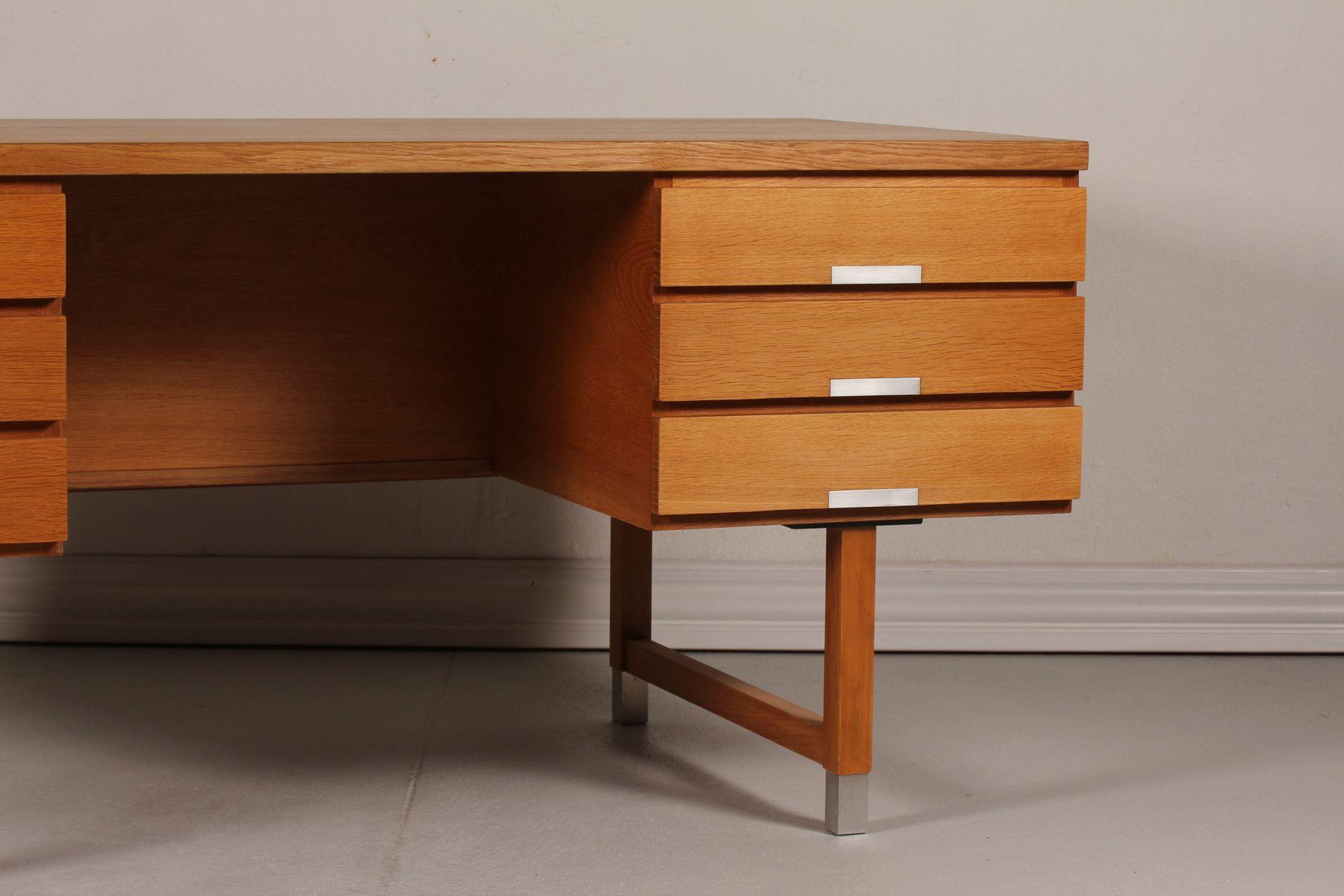 Oak Desk With Drawers ~ Danish oak desk with six drawers by kai kristiansen s