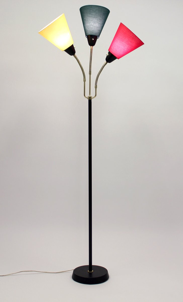 mid century swedish three light floor lamp from ab armaturhantverk for. Black Bedroom Furniture Sets. Home Design Ideas