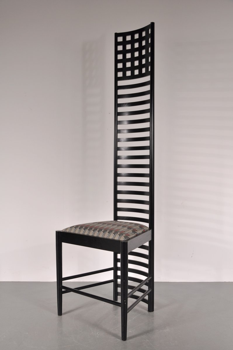 xl edition hill house ladderback chair by charles rennie mackintosh for cassina 1980s for sale. Black Bedroom Furniture Sets. Home Design Ideas