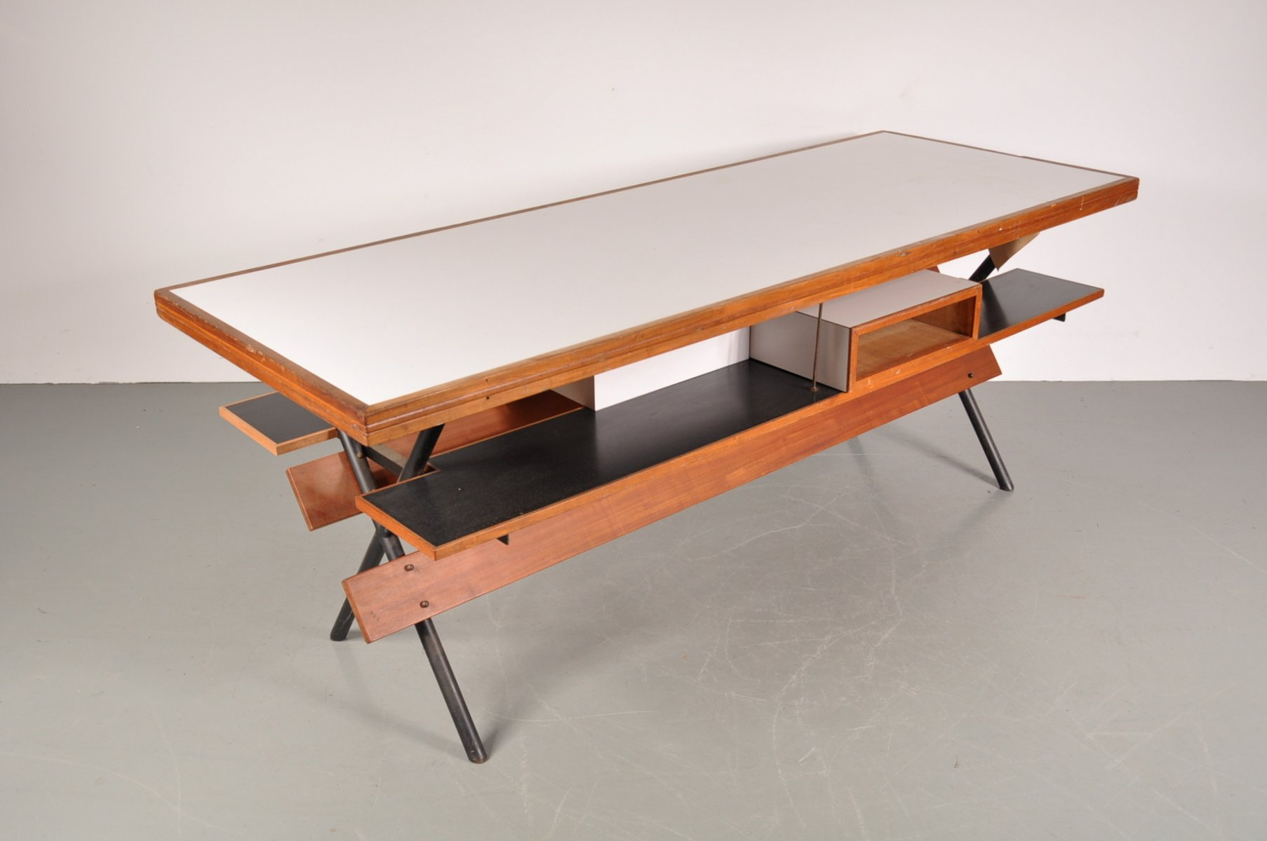Tavolo da lavoro su misura, anni '50 in vendita su Pamono