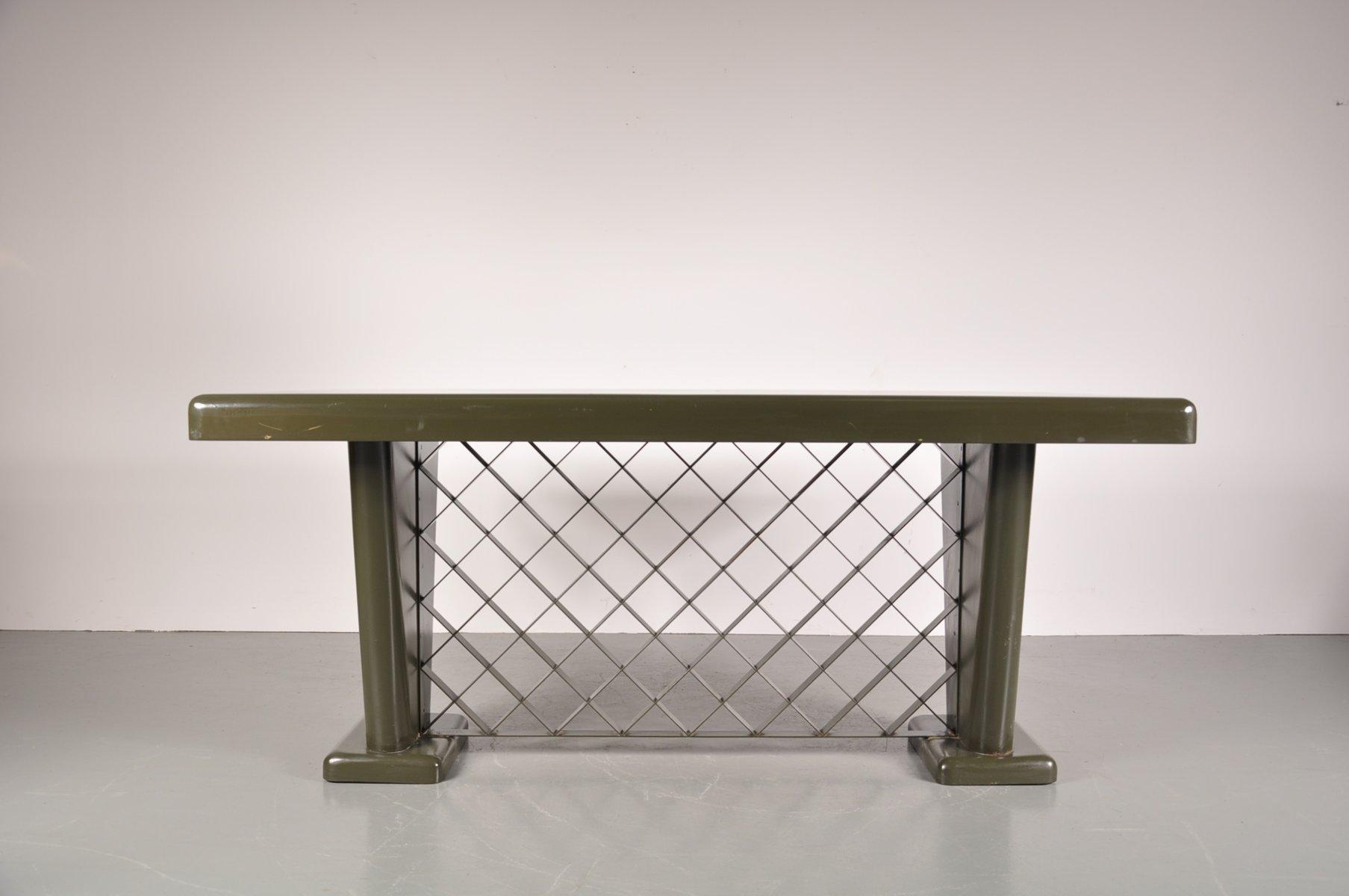 deutscher art deco metall tisch 1930er bei pamono kaufen. Black Bedroom Furniture Sets. Home Design Ideas