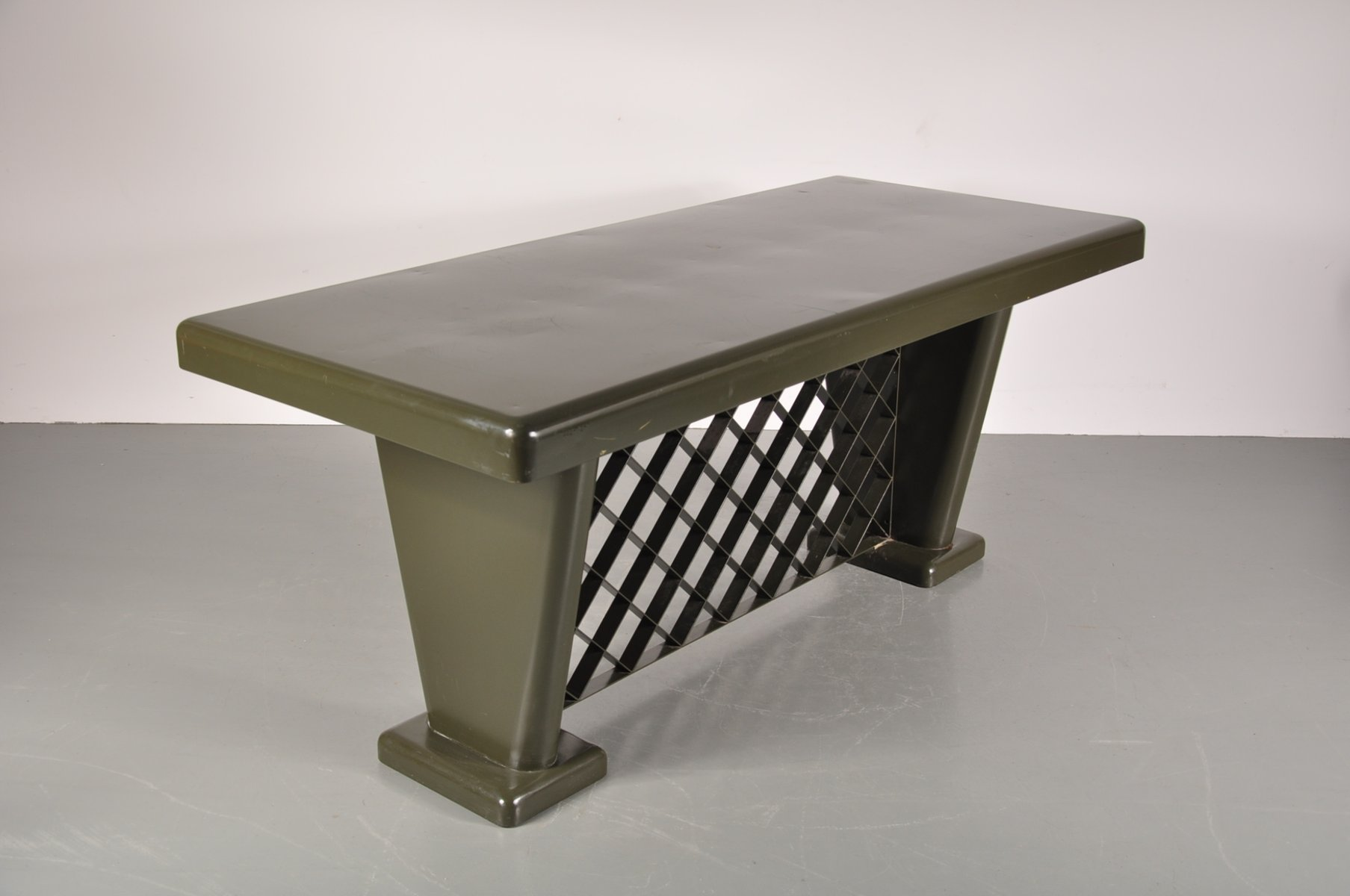 german art deco metal table 1930s for sale at pamono. Black Bedroom Furniture Sets. Home Design Ideas
