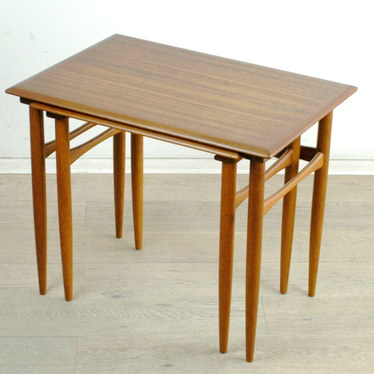 Danish Teak Nesting Tables By Poul Hundevad For Fabian, 1960s, Set Of 2
