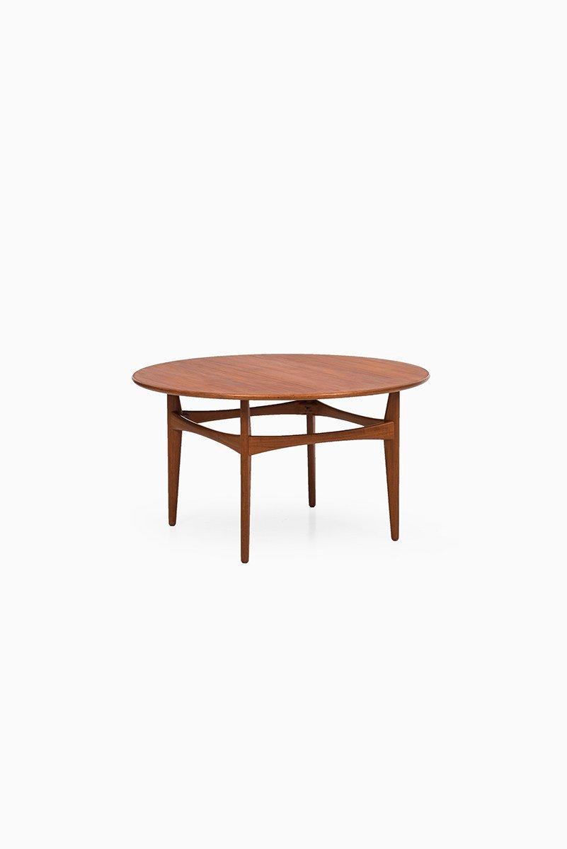 Swedish Round Teak Coffee Table By Karl Erik Ekselius For Joc Vetlanda 1960s For Sale At Pamono