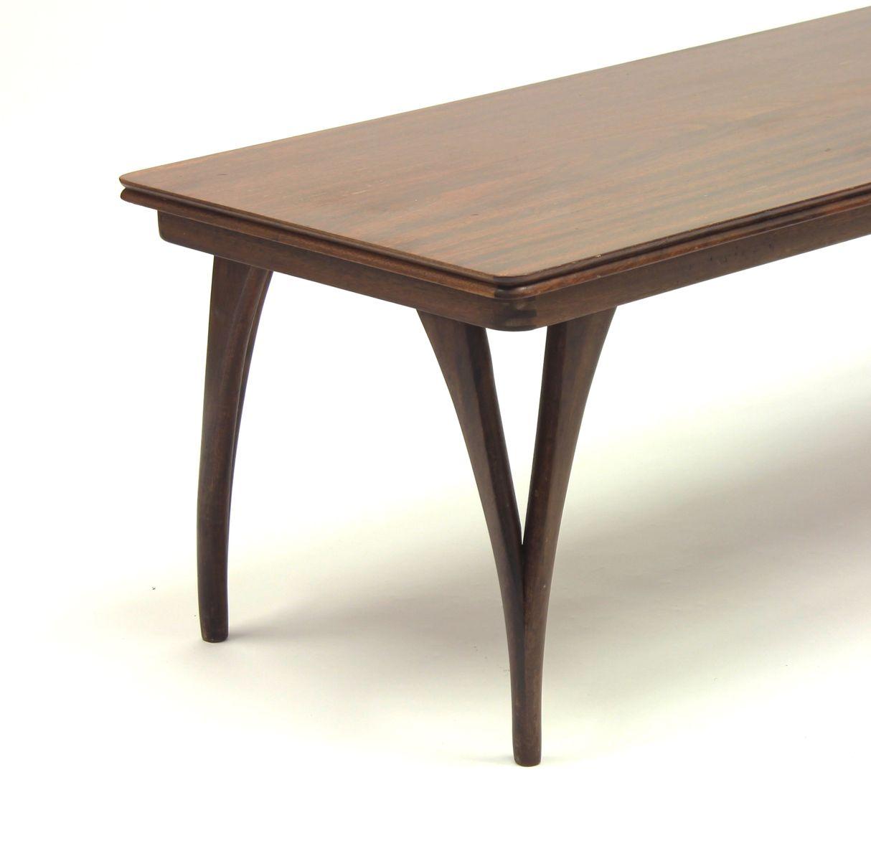 Vintage palisander tisch mit gespaltenen tischbeinen bei for Palisander tisch