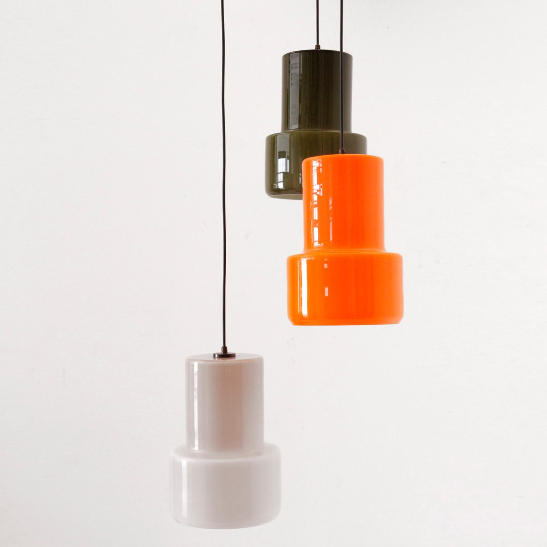 Italian Murano Glass Pendant Lamp From Vistosi 1950s For