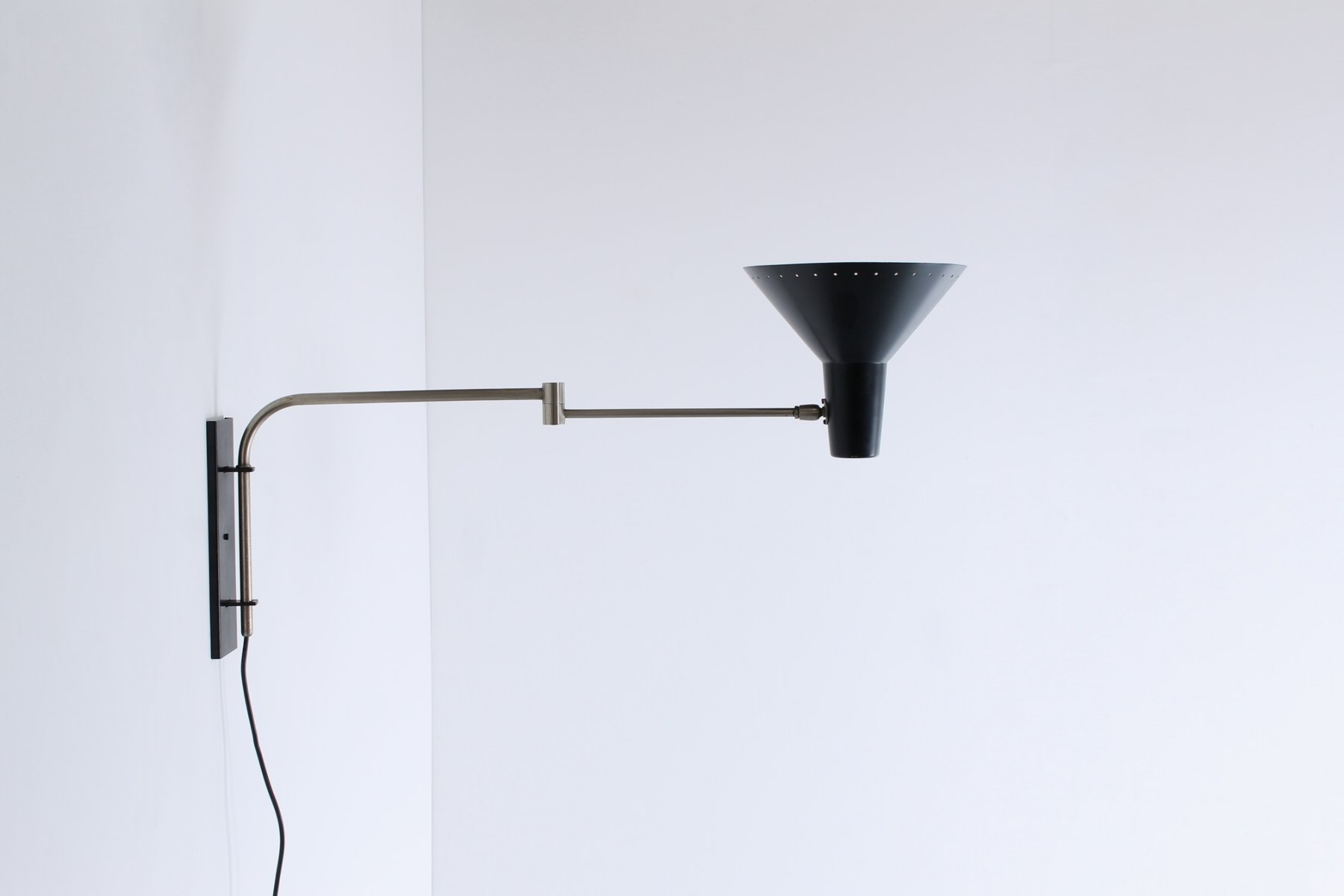 Wall Mounted Arm Lights : Wall Mounted Swinging Arm Industrial Light from Artimeta, 1950s for sale at Pamono
