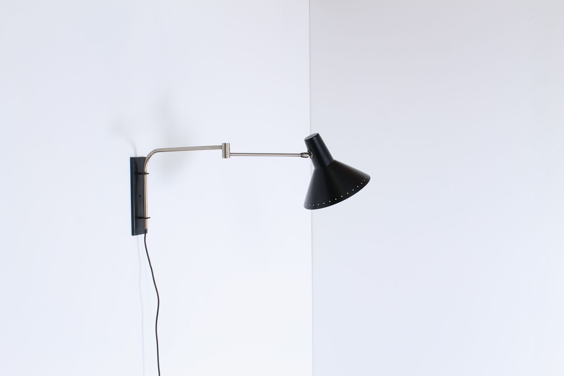 Wall Mounted Swinging Arm Industrial Light from Artimeta, 1950s for sale at Pamono