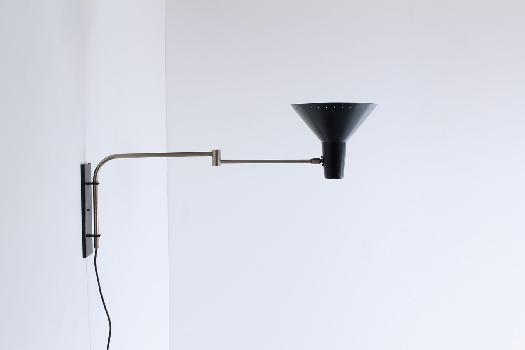 Wall Mounted Industrial Lights : Wall Mounted Swinging Arm Industrial Light from Artimeta, 1950s for sale at Pamono