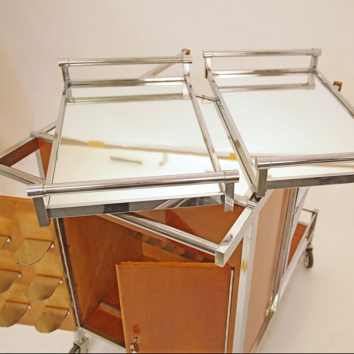 art deco servierwagen von jacques adnet 1930er bei pamono. Black Bedroom Furniture Sets. Home Design Ideas