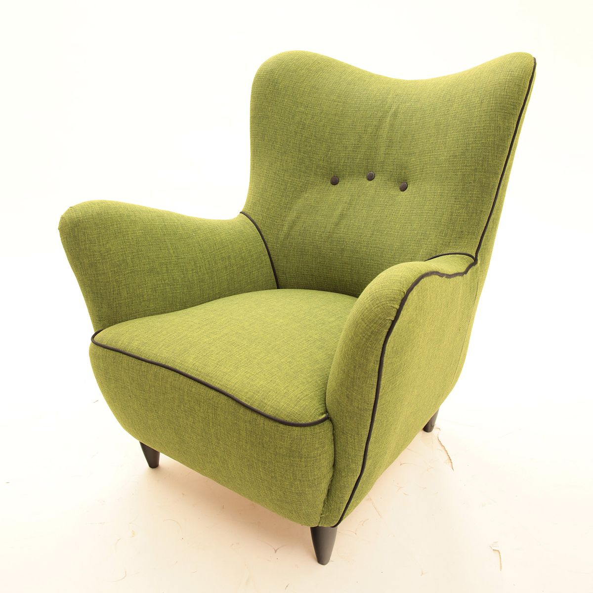 Italian green lounge chair for sale at pamono for Chair in italian