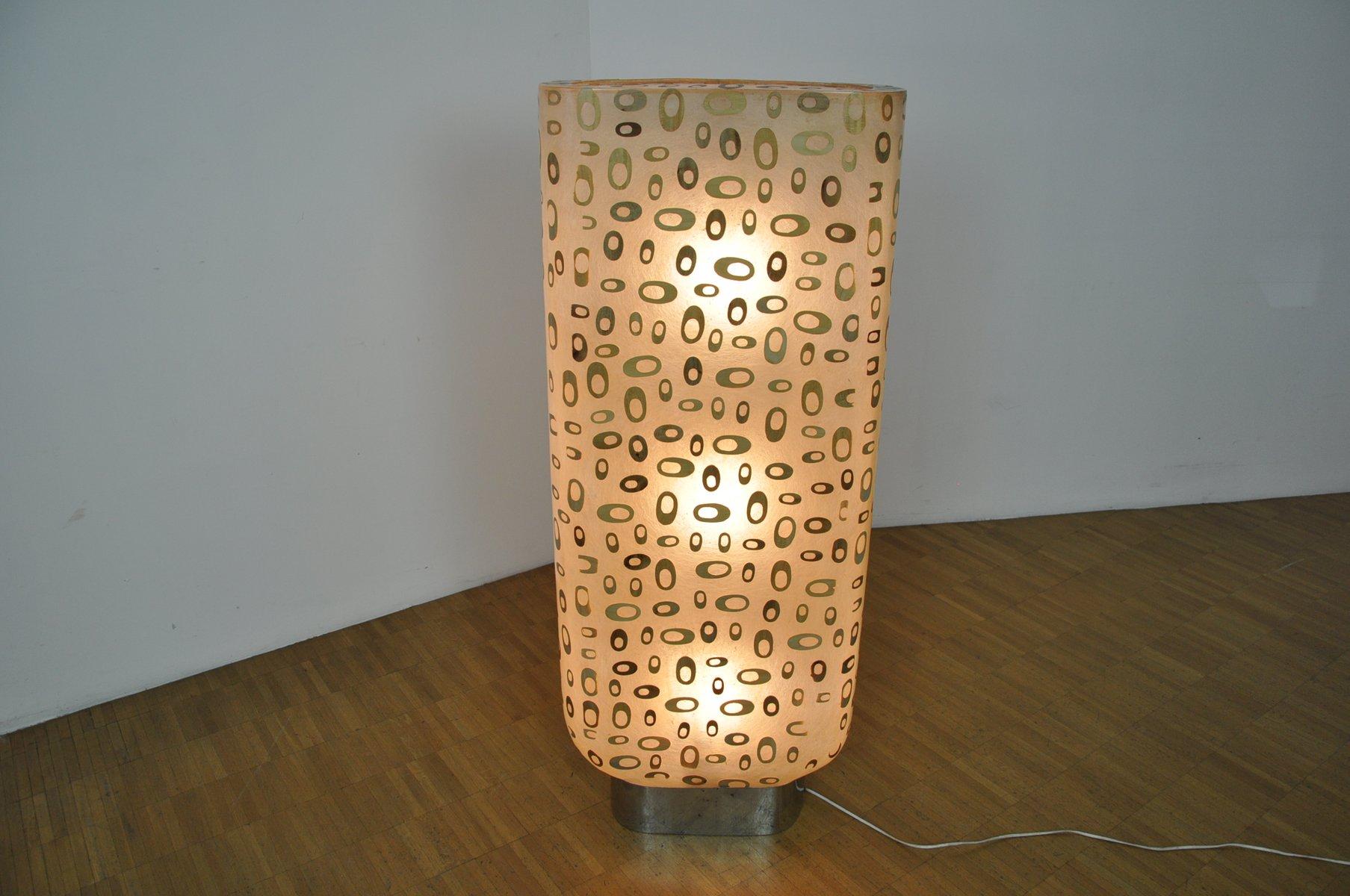 d nische stehlampe aus holz glasfaser 1960er bei pamono. Black Bedroom Furniture Sets. Home Design Ideas
