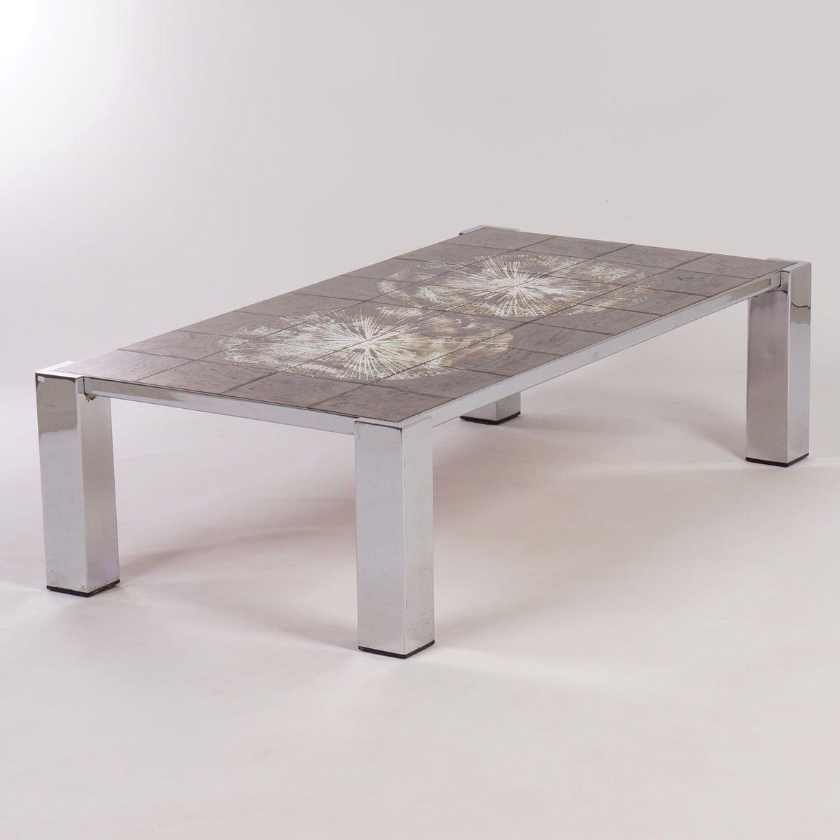 table basse peinte la main carrel e par belarti 1960s en vente sur pamono. Black Bedroom Furniture Sets. Home Design Ideas