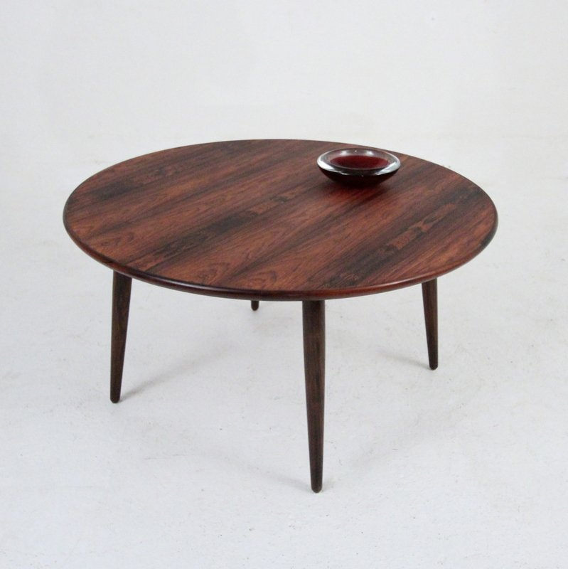 Vintage Round Rosewood Coffee Table For Sale At Pamono