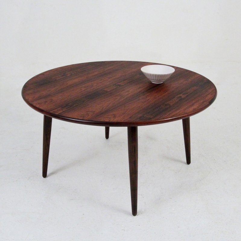 Round Retro Coffee Table: Vintage Round Rosewood Coffee Table For Sale At Pamono