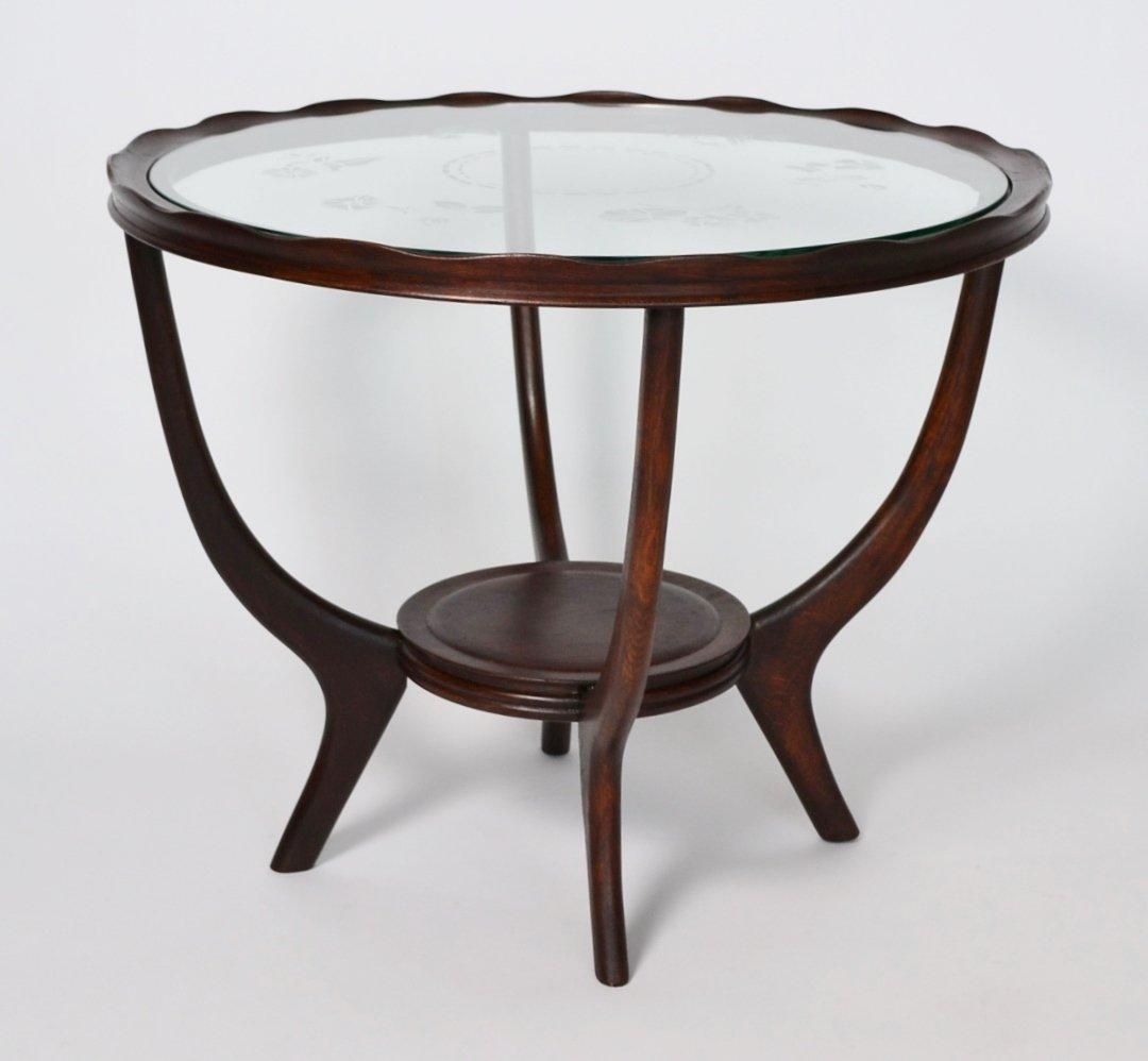 italian vintage mid century coffee table 1950s for sale. Black Bedroom Furniture Sets. Home Design Ideas