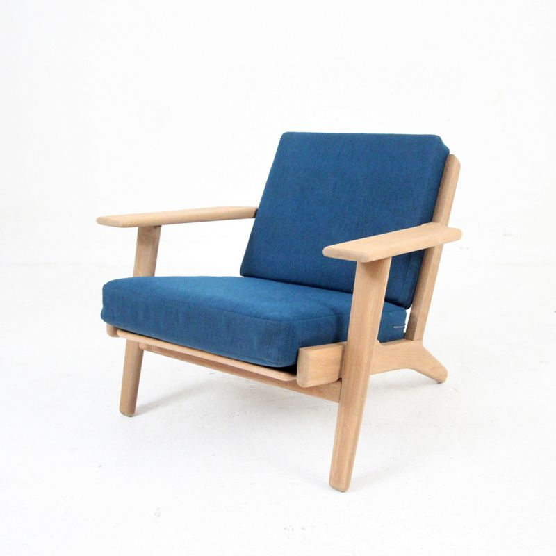 ge 290 armchair by hans j wegner for getama for sale at pamono. Black Bedroom Furniture Sets. Home Design Ideas