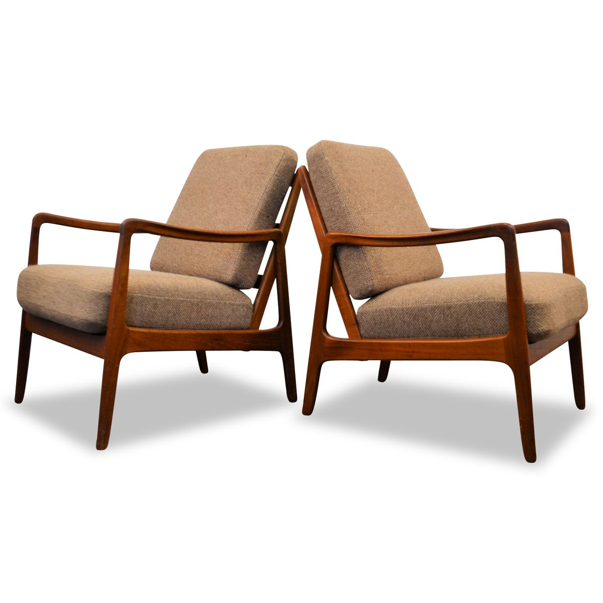 Danish Teak Lounge Chairs by Ole Wanscher for France & Son