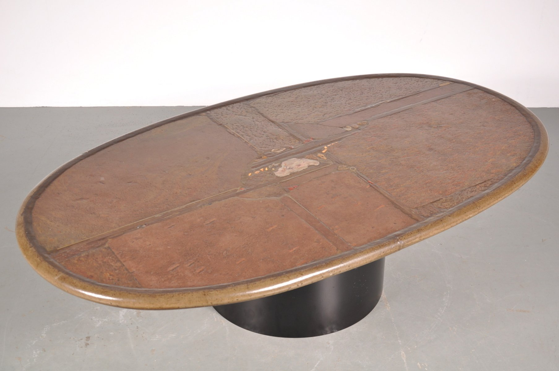 vintage stone coffee tablepaul kingma, 1993 for sale at pamono