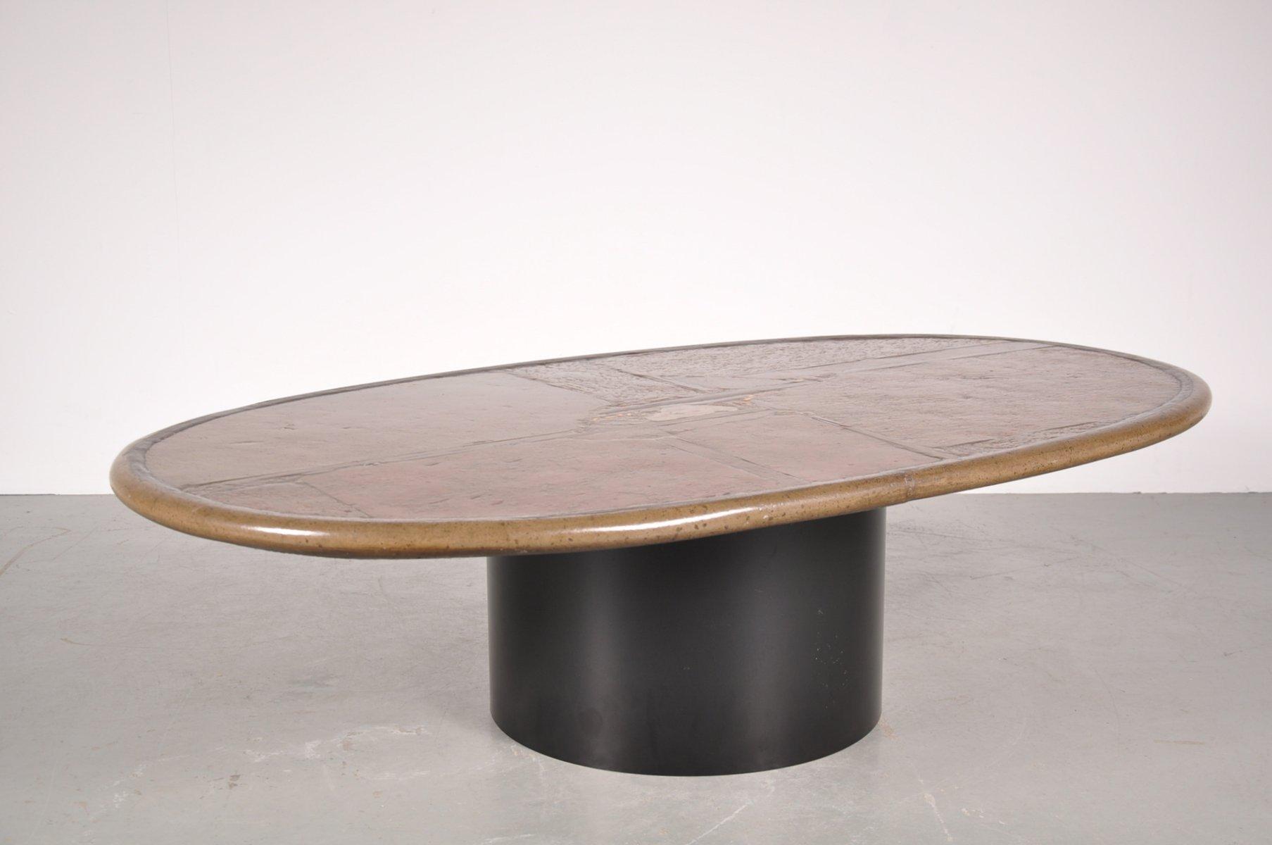 vintage stone coffee table by paul kingma  for sale at pamono - vintage stone coffee table by paul kingma