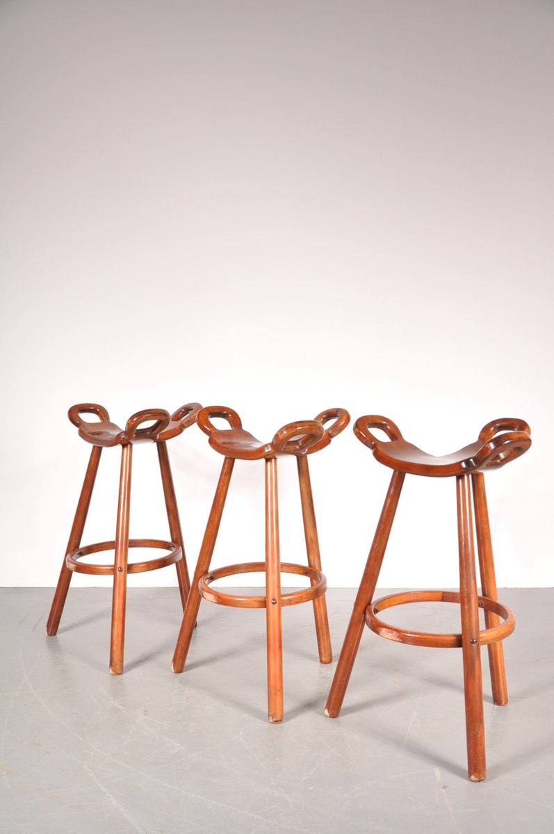 Spanish Brutalist Marbella Bar Stools From Confonorm Set