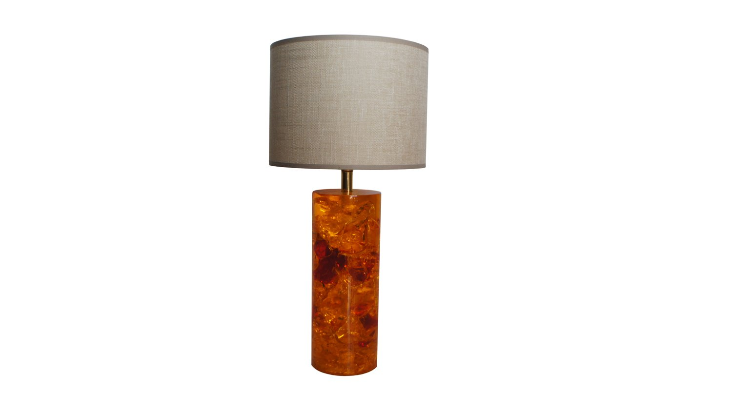 Vintage orange fractal resin table lamp for sale at pamono vintage orange fractal resin table lamp geotapseo Image collections