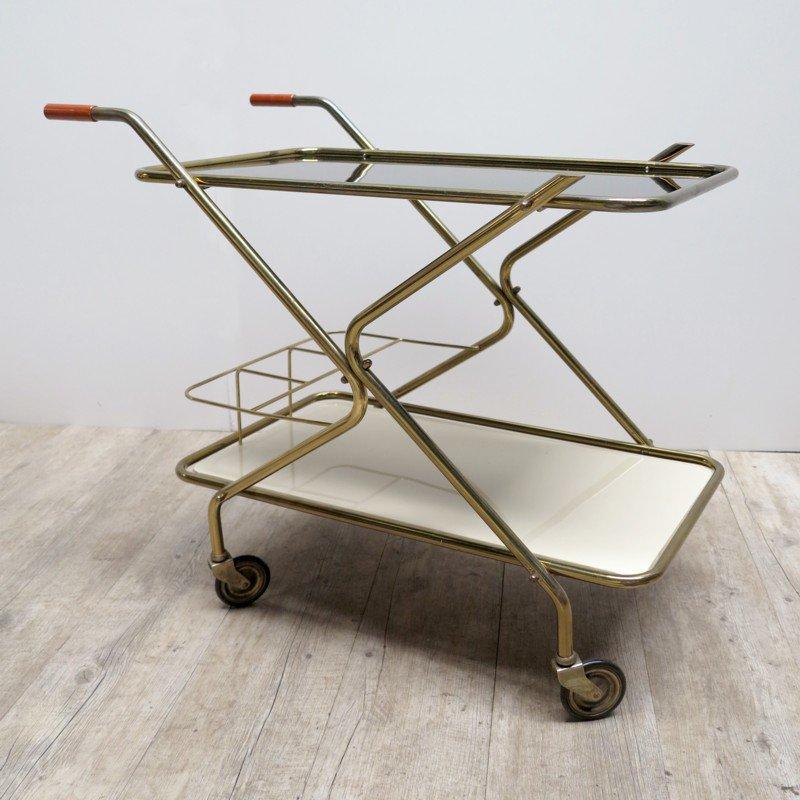 vintage servierwagen mit glasplatten bei pamono kaufen. Black Bedroom Furniture Sets. Home Design Ideas