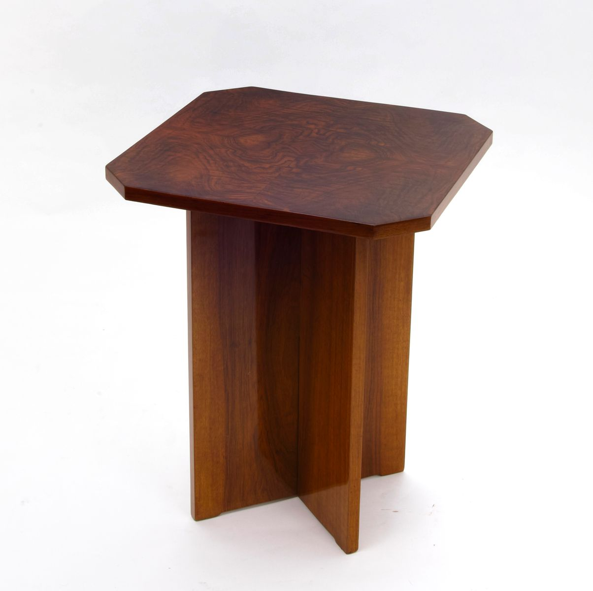 Art deco side table with x base 1930s for sale at pamono for Side table base