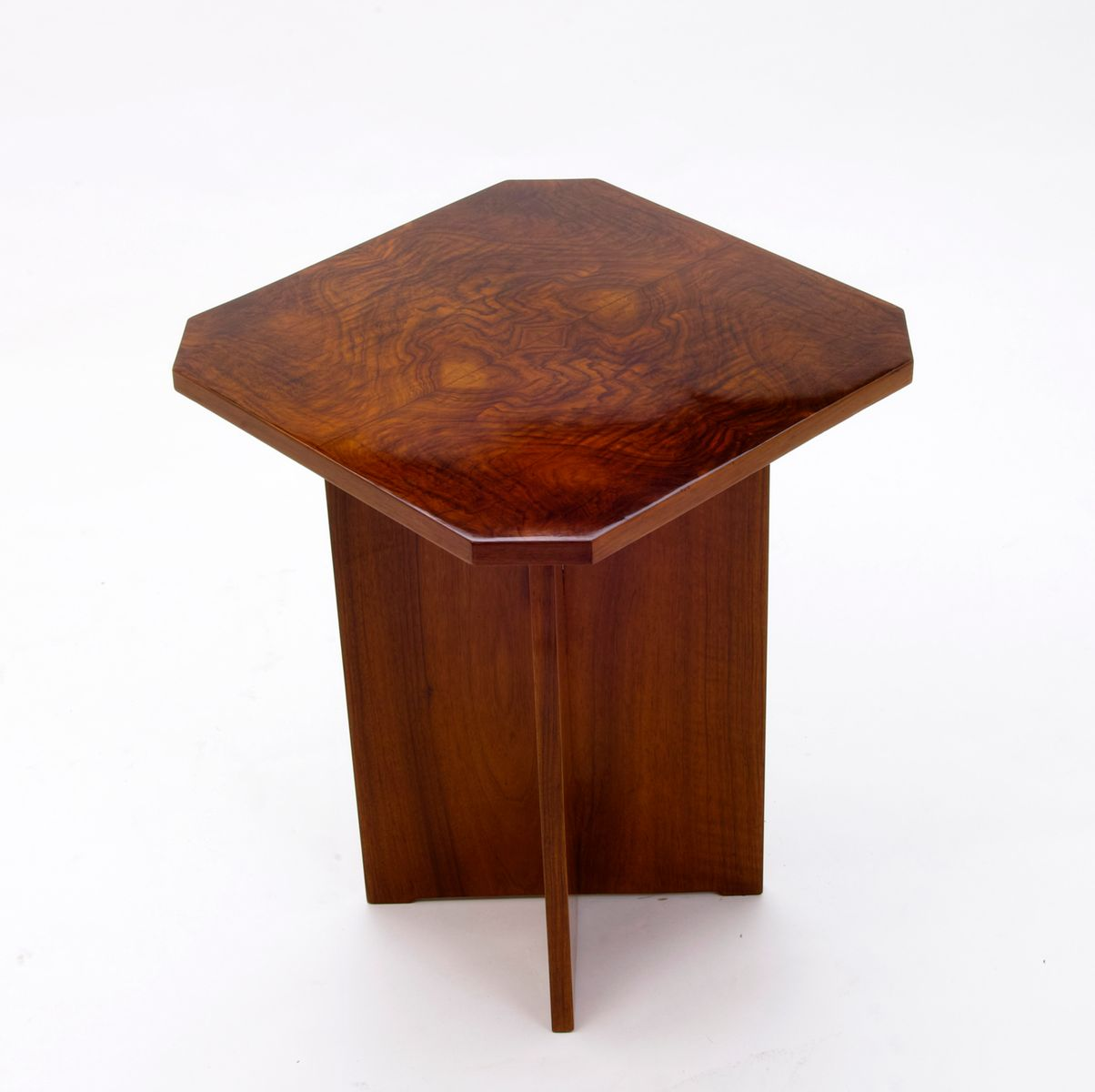 Art Deco Side Table With X Base, 1930s